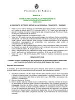 Bando e programma - Provincia di Padova