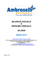 Bilancio Sociale 2014 - Ambroselli Maria Assunta