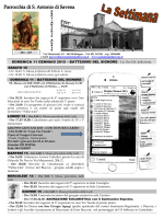DOMENICA 11 GENNAIO 2015 – BATTESIMO DEL SIGNORE