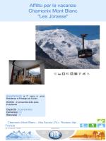 """Affitto per le vacanze Chamonix Mont Blanc """"Les Jorasse"""""""