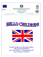 "Progetto ""HELLO CHILDREN"" - 2° Istituto Comprensivo"
