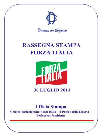 30 luglio 2014 - Gruppo PDL – Berlusconi Presidente