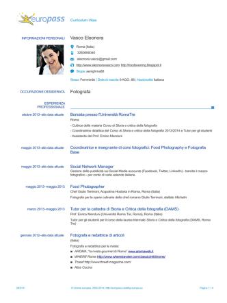 Curriculum - Premio Celeste