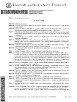 VISTO il vigente Regolamento Didattico di Ateneo emanato con