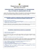 Istruzioni per la trasmissione on line delle istanze di liquidazione.