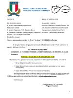 CONVOCAZIONE U14 - AREA5 vs AREA7