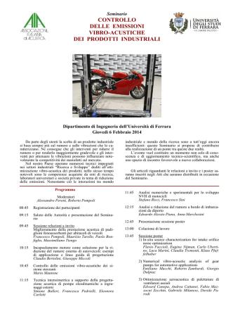 controllo delle emissioni vibro-acustiche dei prodotti industriali