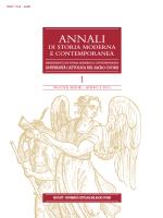 Salvo Mastellone - Annali di Storia moderna e contemporanea