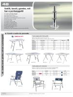 Sedili, tavoli, gambe, roll bar e portaoggetti