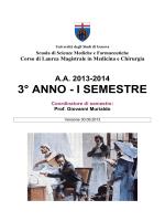 Guida ai Corsi Integrati (3°/I semestre)