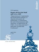 STUD - Dossier - 133 - Senato della Repubblica