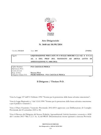 Atto Dirigenziale n. 3640/2014