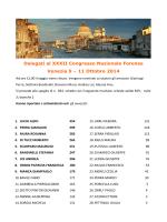 11 Ottobre 2014 - Ordine degli Avvocati di Cagliari