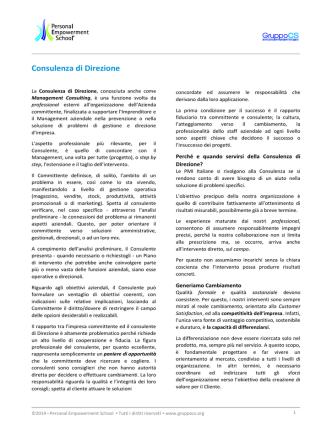 ConsulenzadiDirezione - Personal Empowerment School