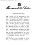 IL MINISTRO DELLA SALUTE