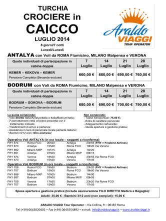 CAICCO - Araldo Viaggi Tour Operator