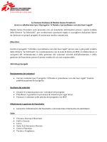 La Sezione Italiana di Medici Senza Frontiere ricerca collaboratori