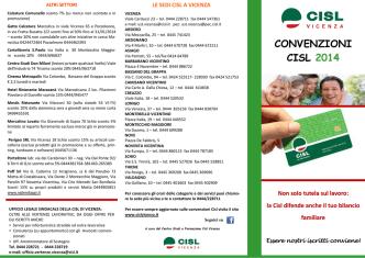 CONVENZIONI CISL 2014