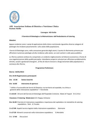ADI Associazione Italiana di Dietetica e Nutrizione Clinica Sezione