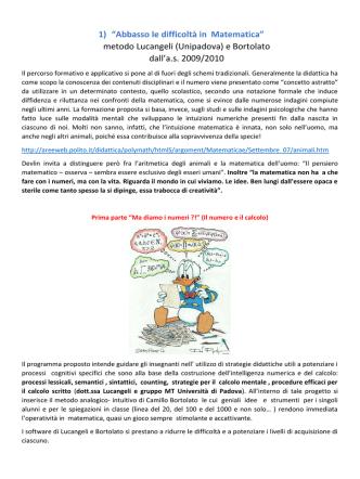 """1) """"Abbasso le difficoltà in Matematica"""" metodo Lucangeli"""