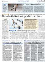 Davide Galizzi sul podio tricolore