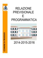 Relazione previsionale e programmatica 2014 - 2015
