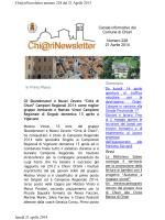 Chi@riNewsletter n° 228 – 21 Aprile 2014