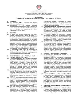 Condizioni generali di registrazione e utilizzo del portale [file]