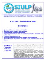 n. 33 del 22 settembre 2000 Sommario