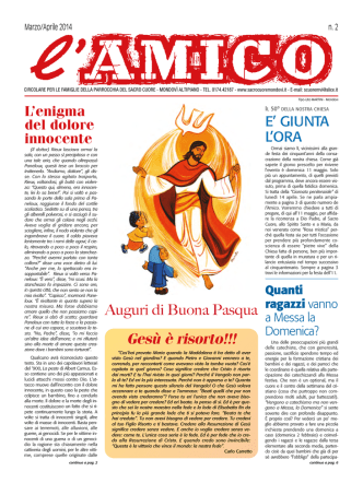 02_Mar/Apr_2014 - Parrocchia Sacro Cuore