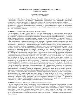 3b lingua e letteratura italiana bini