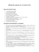 Bibliografia ragionata di e su Gabriel Tarde Opere