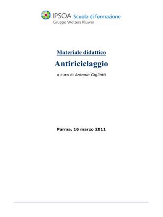 Antiriciclaggio - Unione dei Giovani Dottori Commercialisti di Parma