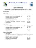 Tariffario analisi spettrometro di risonanza magnetica nucleare Jeol
