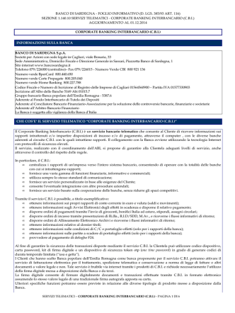 corporate banking interbancario (c.b.i.)