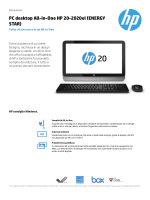 PC desktop All-in-One HP 20-2020el