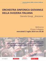 orchestra sinfonica giovanile della svizzera italiana