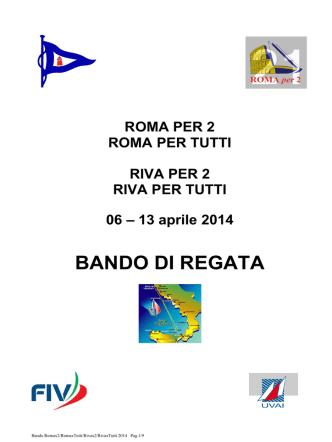 BANDO DI REGATA - Roma per Tutti