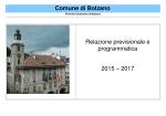 Relazione previsionale e programmatica 2015–2017