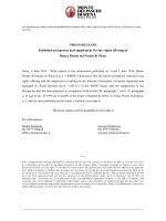 Press release 6th June 2014 - Monte dei Paschi di Siena