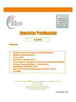 Newsletter previdenziale DD.CC. n. 3/2014