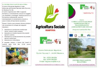 Brochure campus autunnale - agricoltura sociale mantova