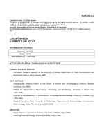 Lucia Cavalca CURRICULUM VITAE - Università degli Studi di Milano