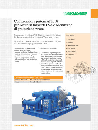 Compressore N2 in PSA per N2 it