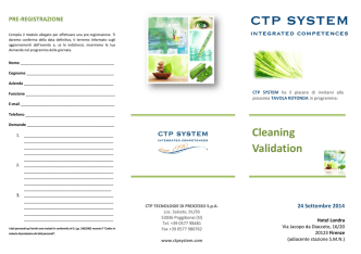 Cleaning Validation Cleaning Validation