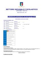 C.U. N. 25 del 03/06/2014 SGS Calcio a 5