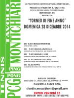 torneo 28 dicembre con regolamento