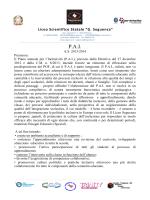 P.A.I. - Liceo Scientifico Seguenza