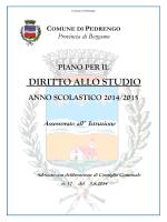 PDS 2014/2015 - comune di pedrengo