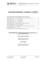 Esercitazioni linguistiche – I semestre a. a. 2014/15